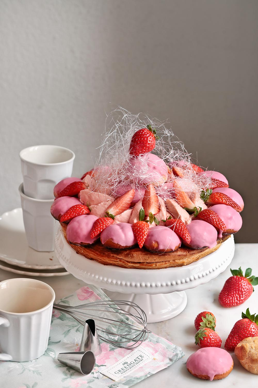 Receta Saint-Honorè de fresas