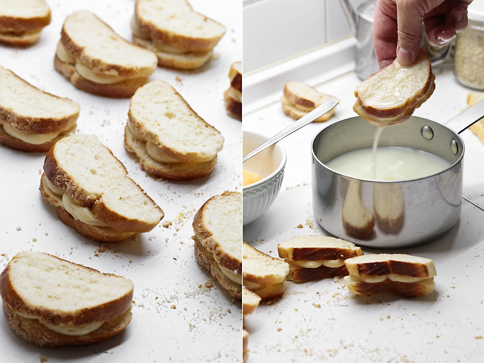 Receta torrijas de crema pastelera