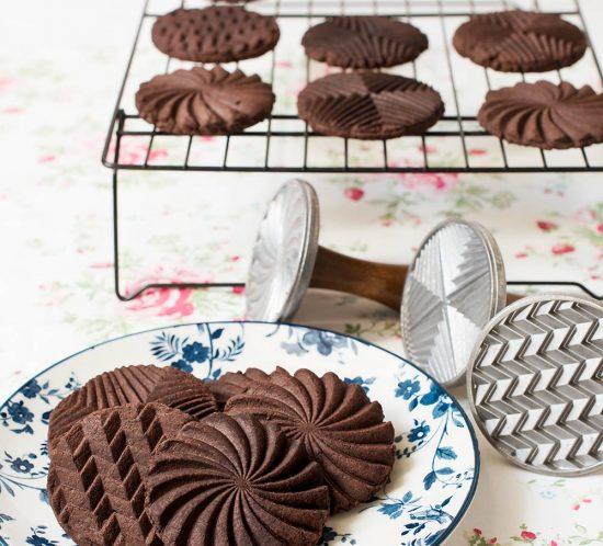 receta galletas chocolate sellos