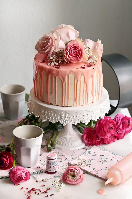 Layer cake de frambuesa y limón