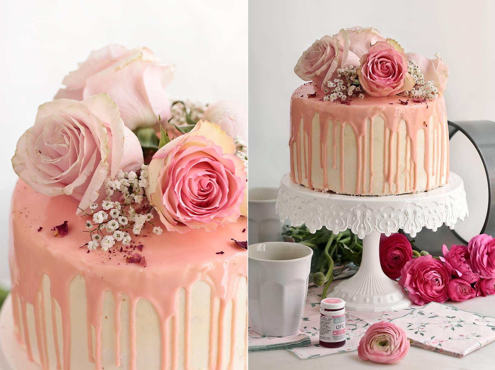 Receta layer cake de frambuesa y limón