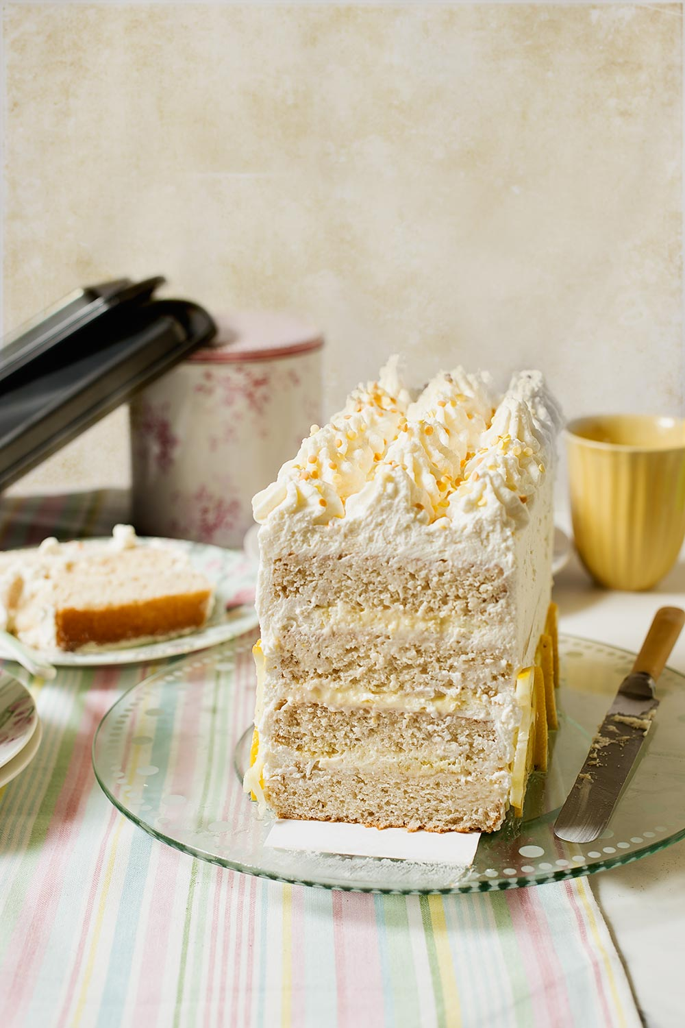 receta layer cake limon mascarpone