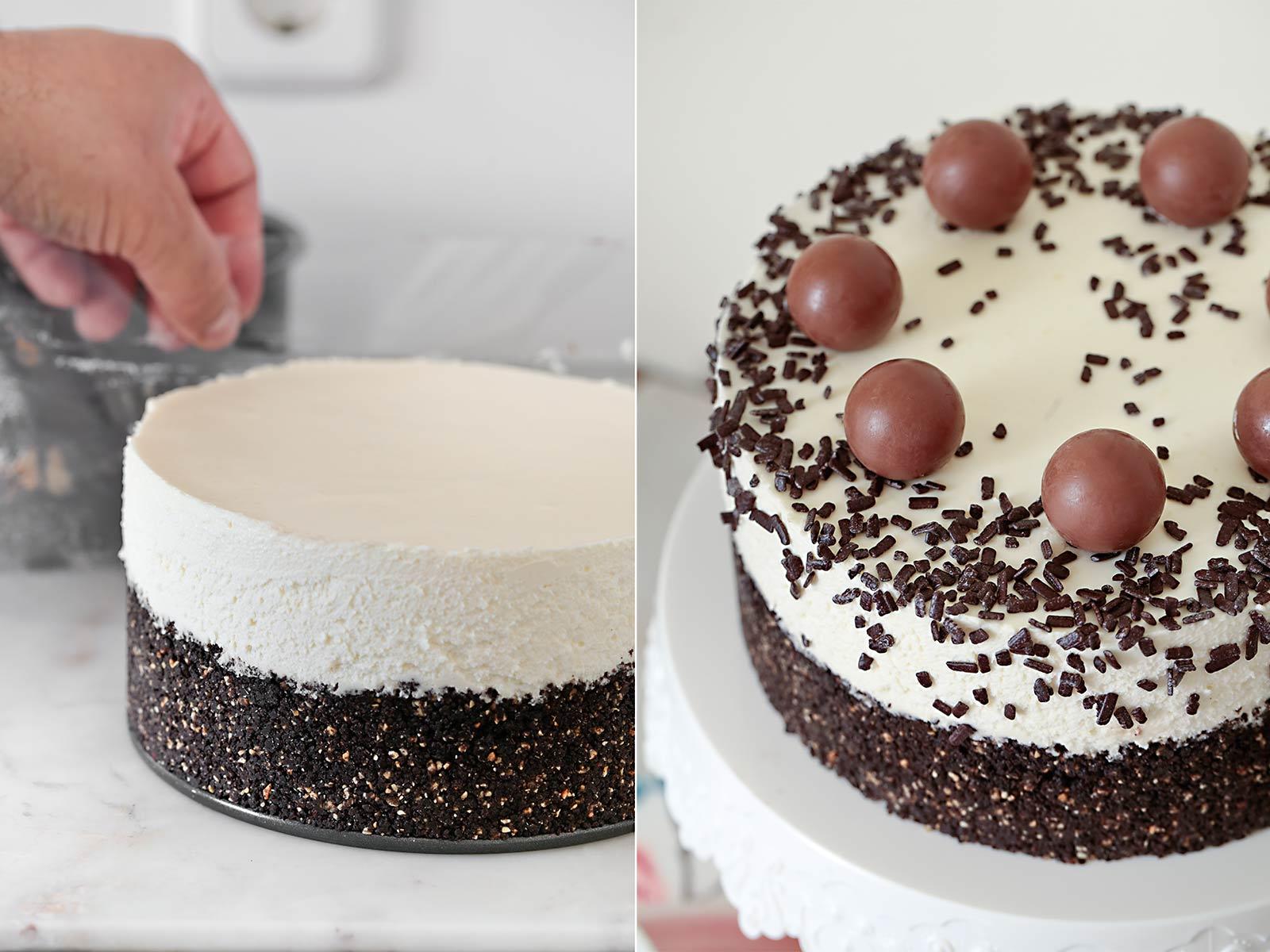 Receta cheesecake de Nutella y Oreo
