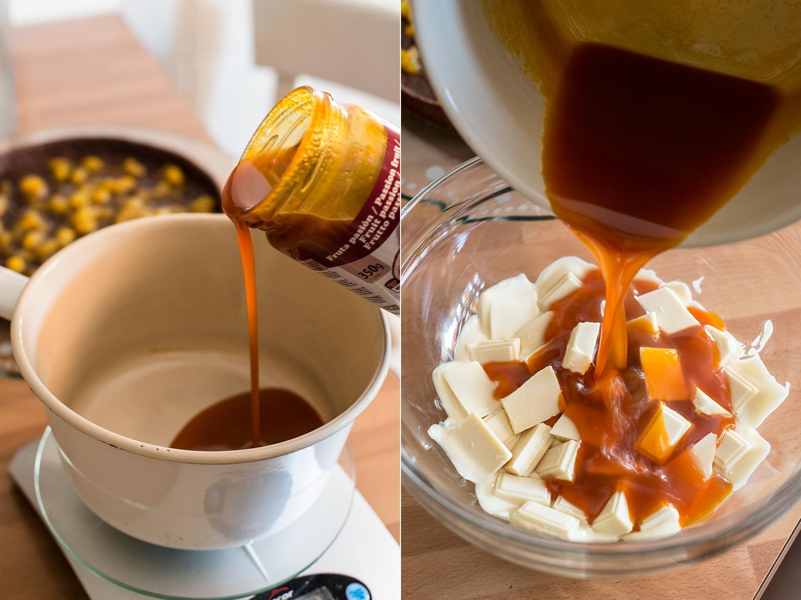 receta tarta chocolate fruta pasion
