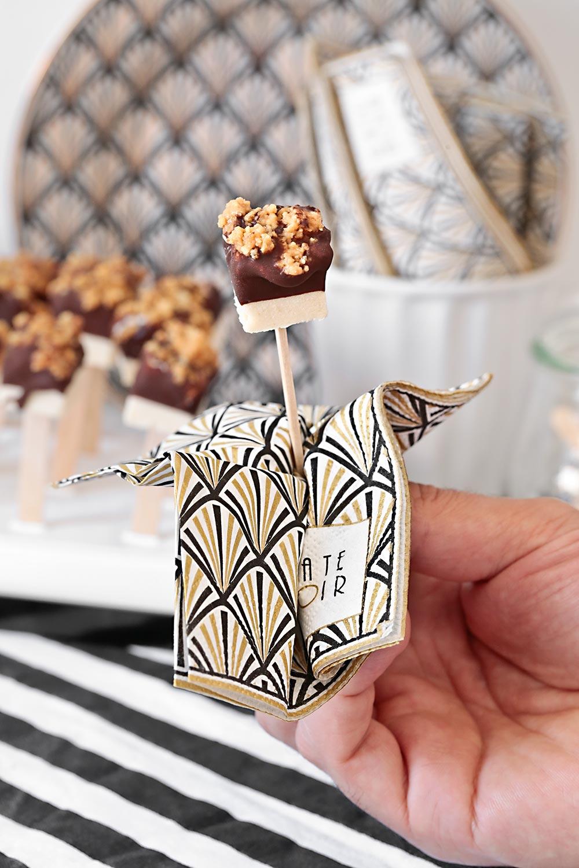 Receta polos de cacahuete y chocolate