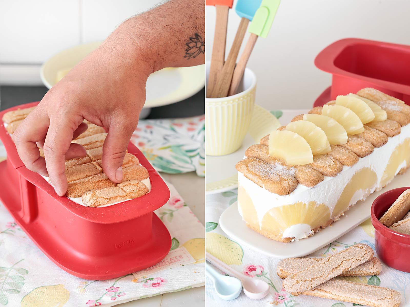 Receta tarta de piña y yogur