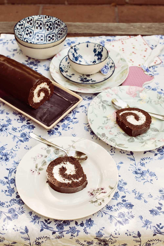 receta brazo gitano chocolate