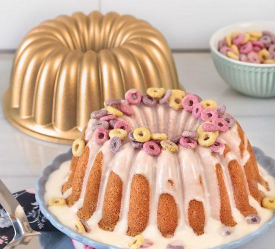 Receta bundt cake con cereales Froot Loops