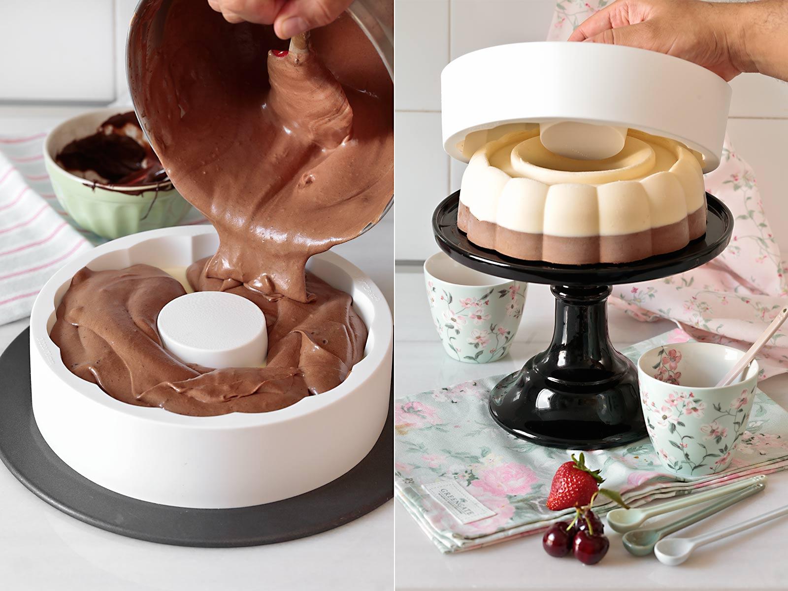 Receta tarta helada de dos chocolates