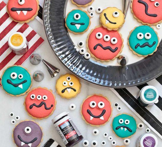 Receta galletas monstruo