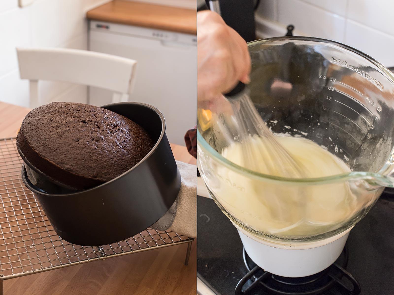 receta layer cake calabaza chocolate