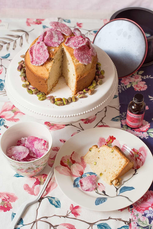 receta bizcocho semola agua rosas