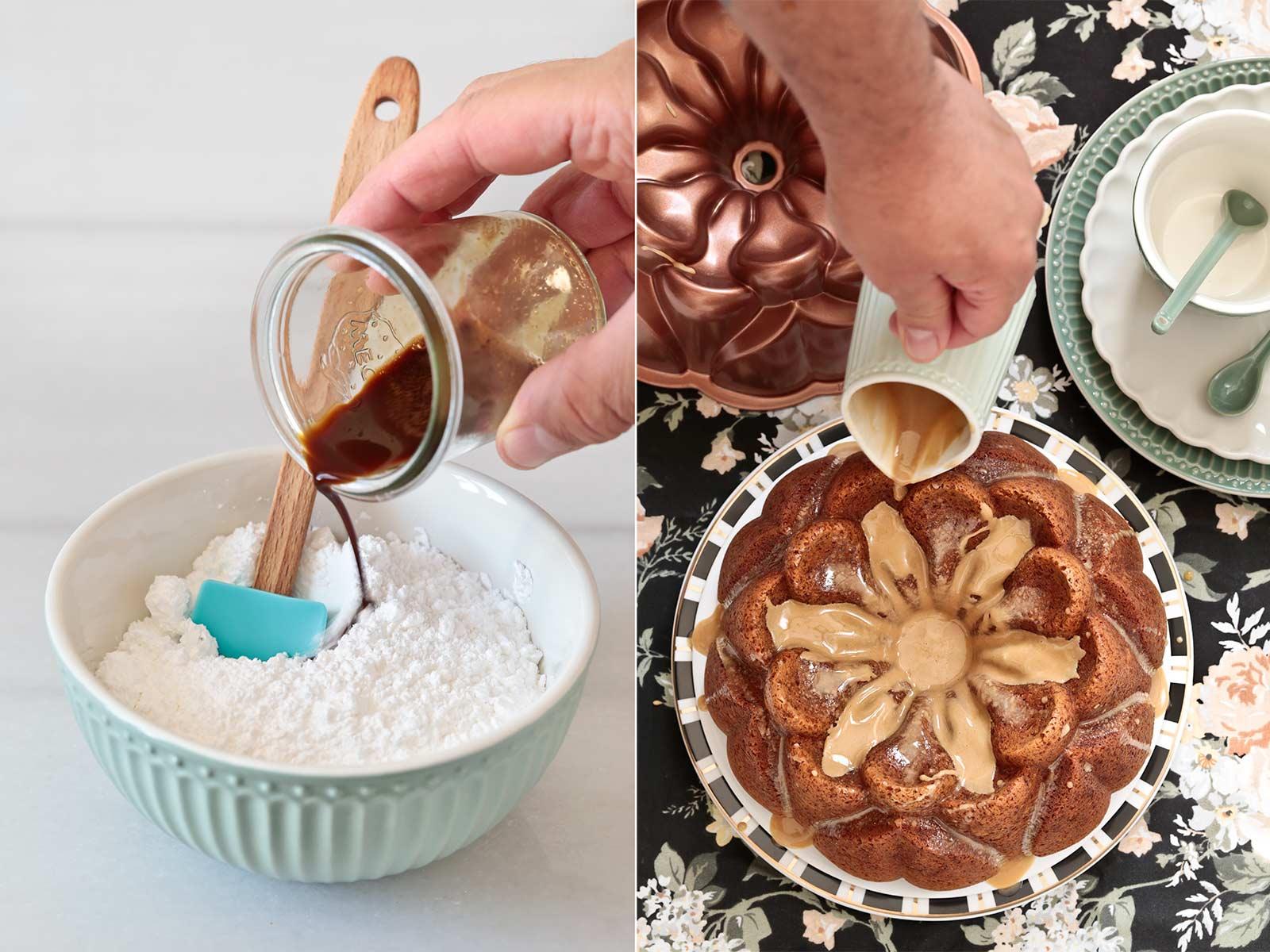 Receta bundt cake de café