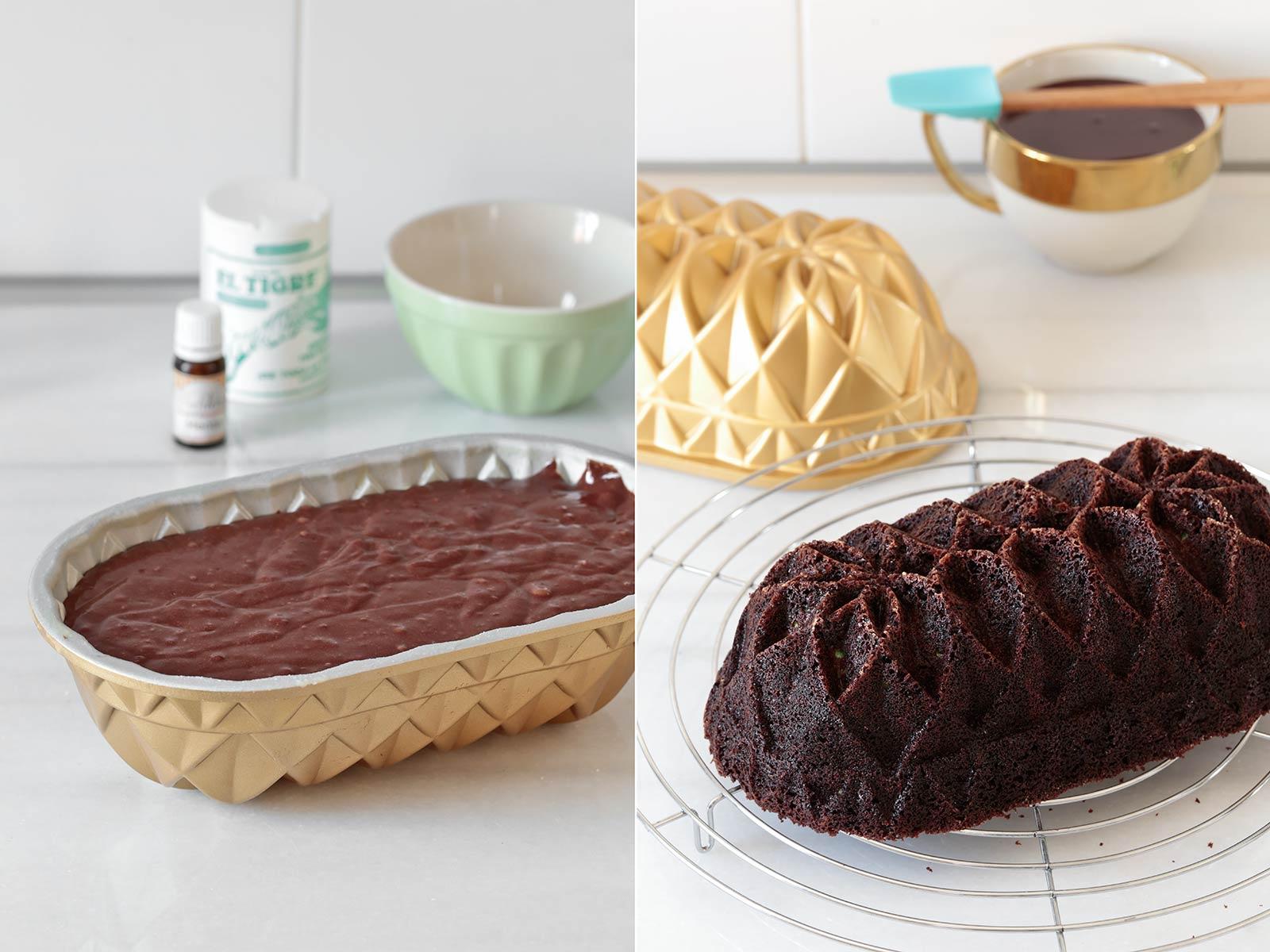 Receta bundt cake de chocolate y menta