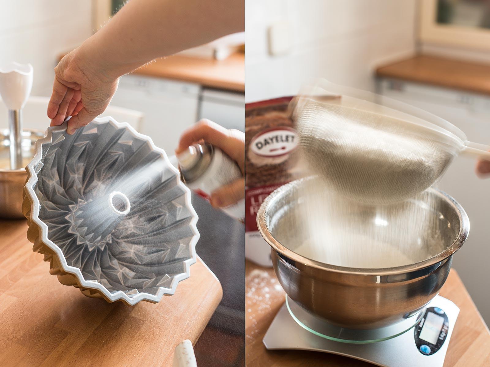 receta bundt cake chocolate platano