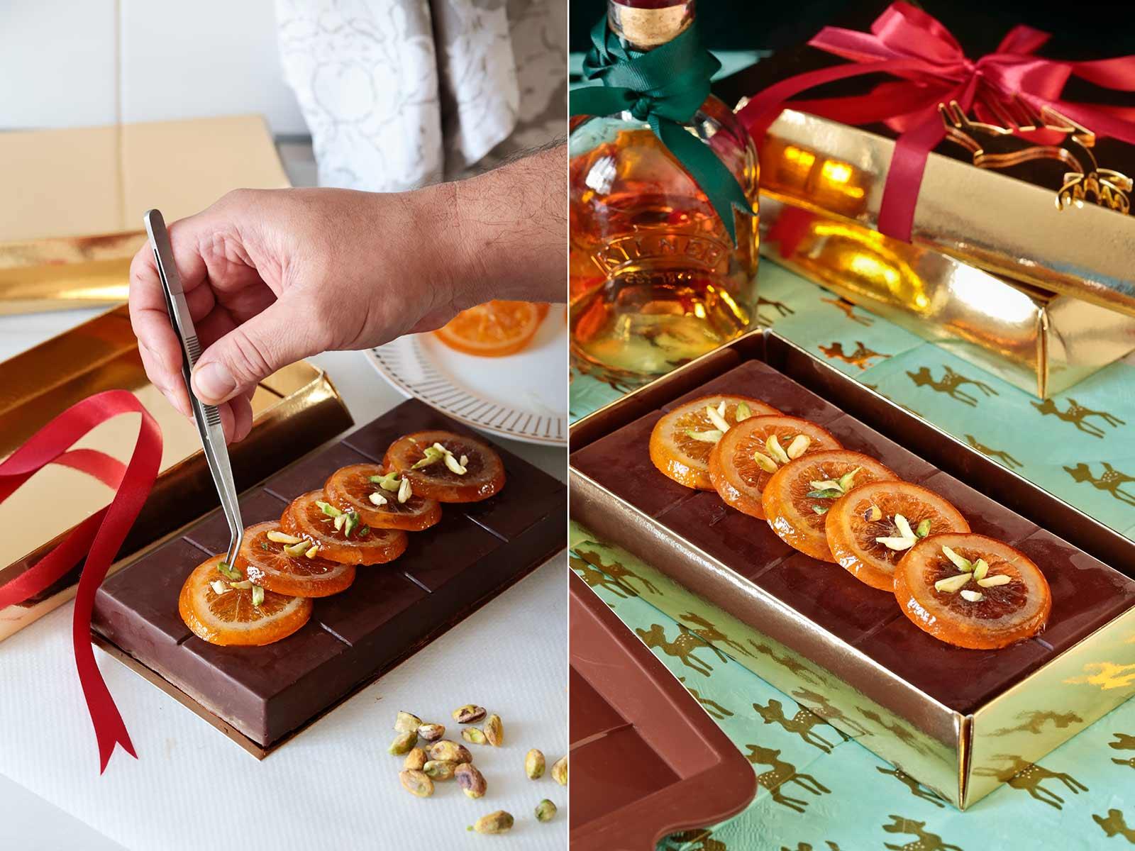 Receta turrón de chocolate y naranja