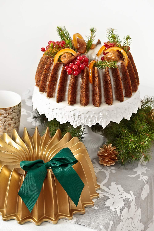 Receta de bundt cake de Navidad