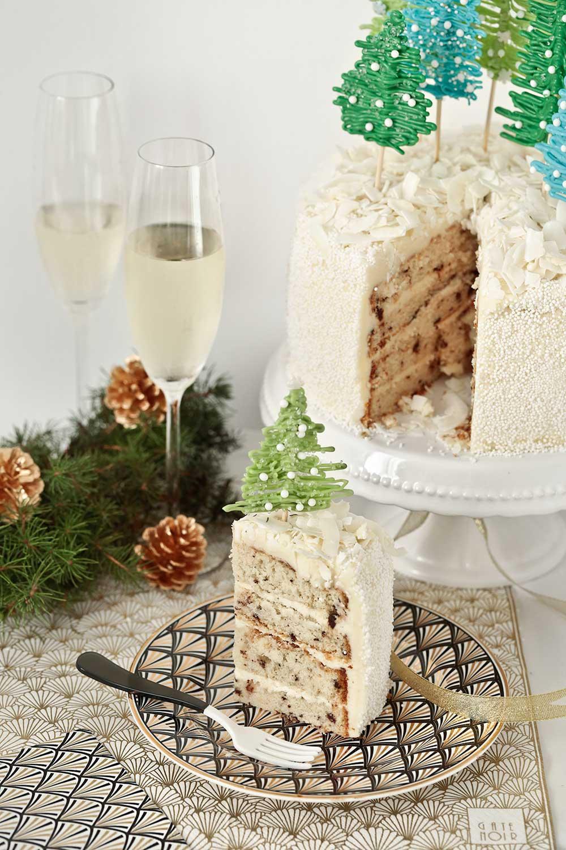 Receta layer cake de Navidad