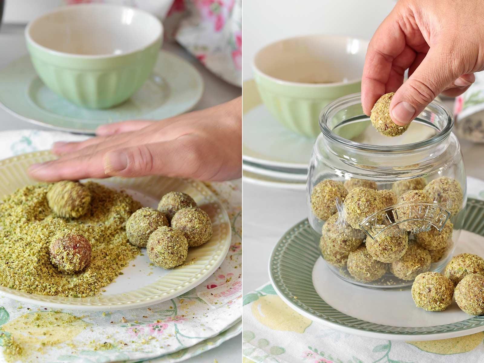 Receta bolas de lima y coco saludable