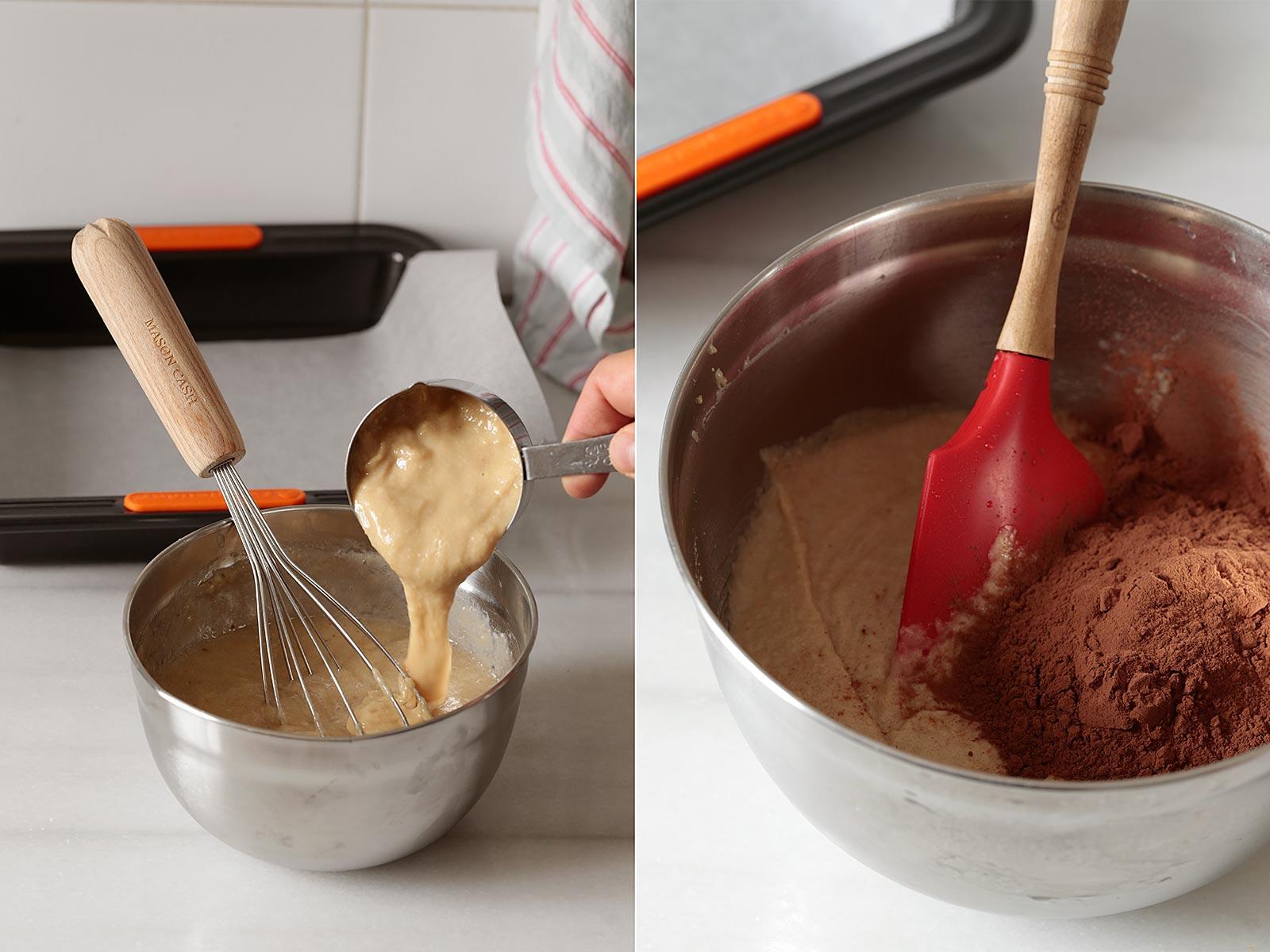 Receta brownie de tres ingredientes