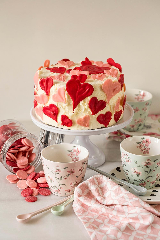 Receta tarta de San Valentín