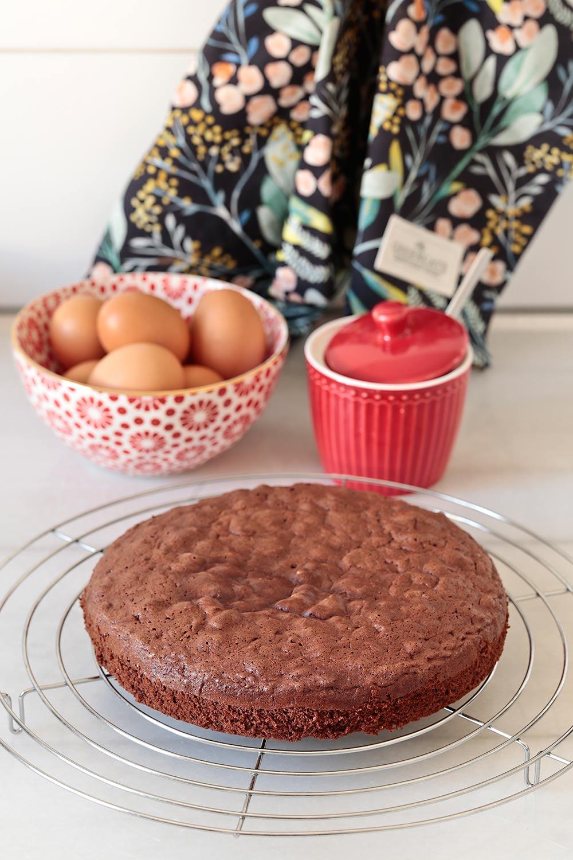 Receta bizcocho genovesa de chocolate