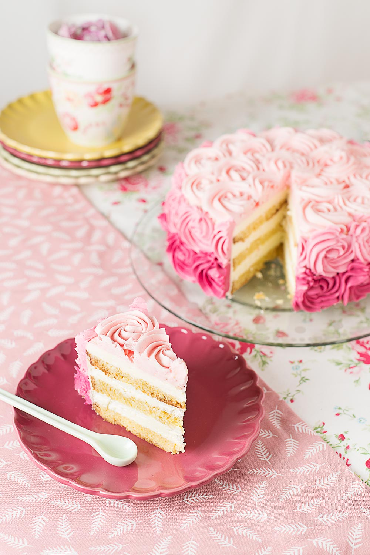 receta tarta rosas san valentin