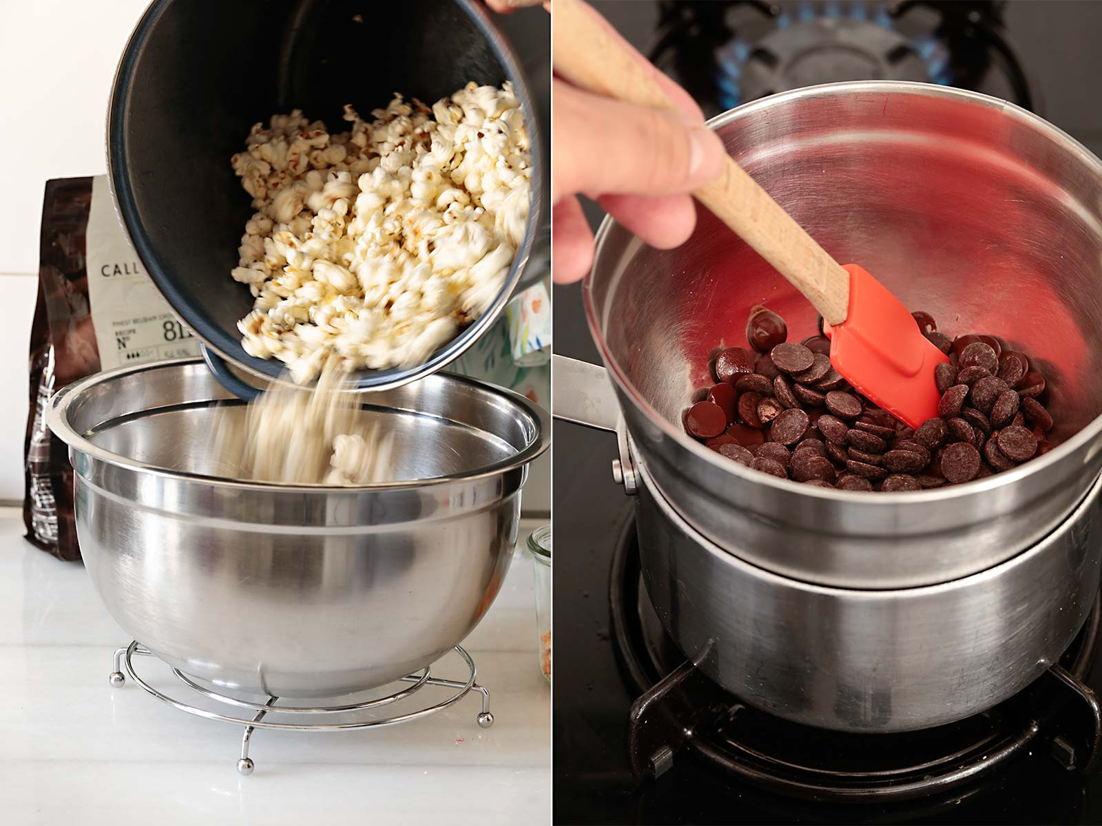 Receta palomitas con chocolate y sal