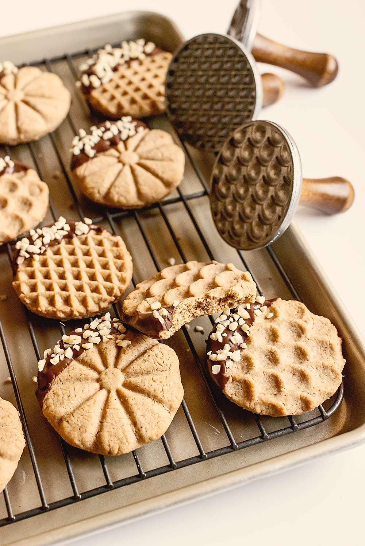 receta galletas manteca cacahuete sellos