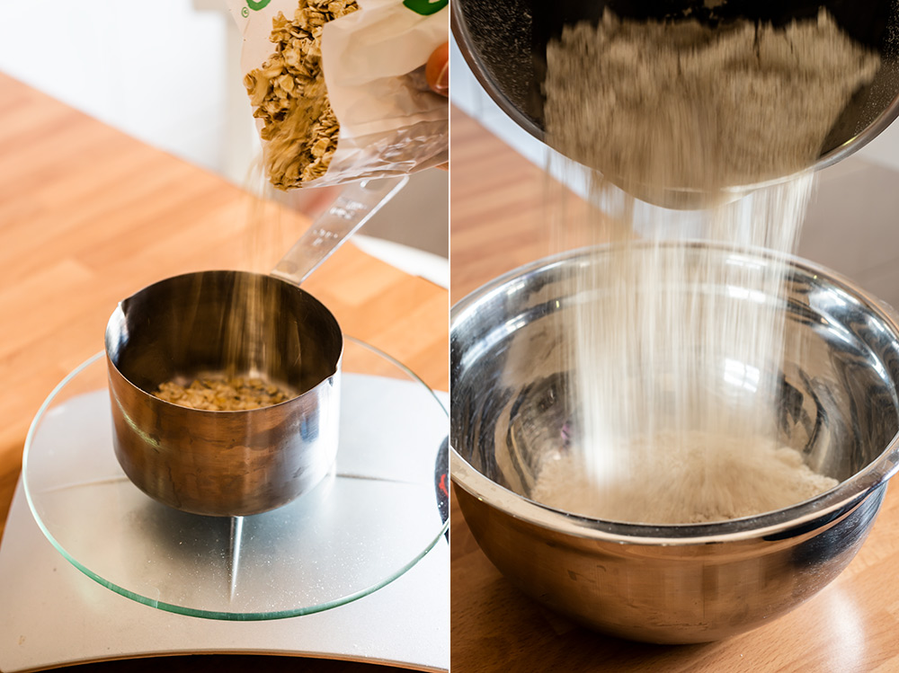 receta gofres avena platano
