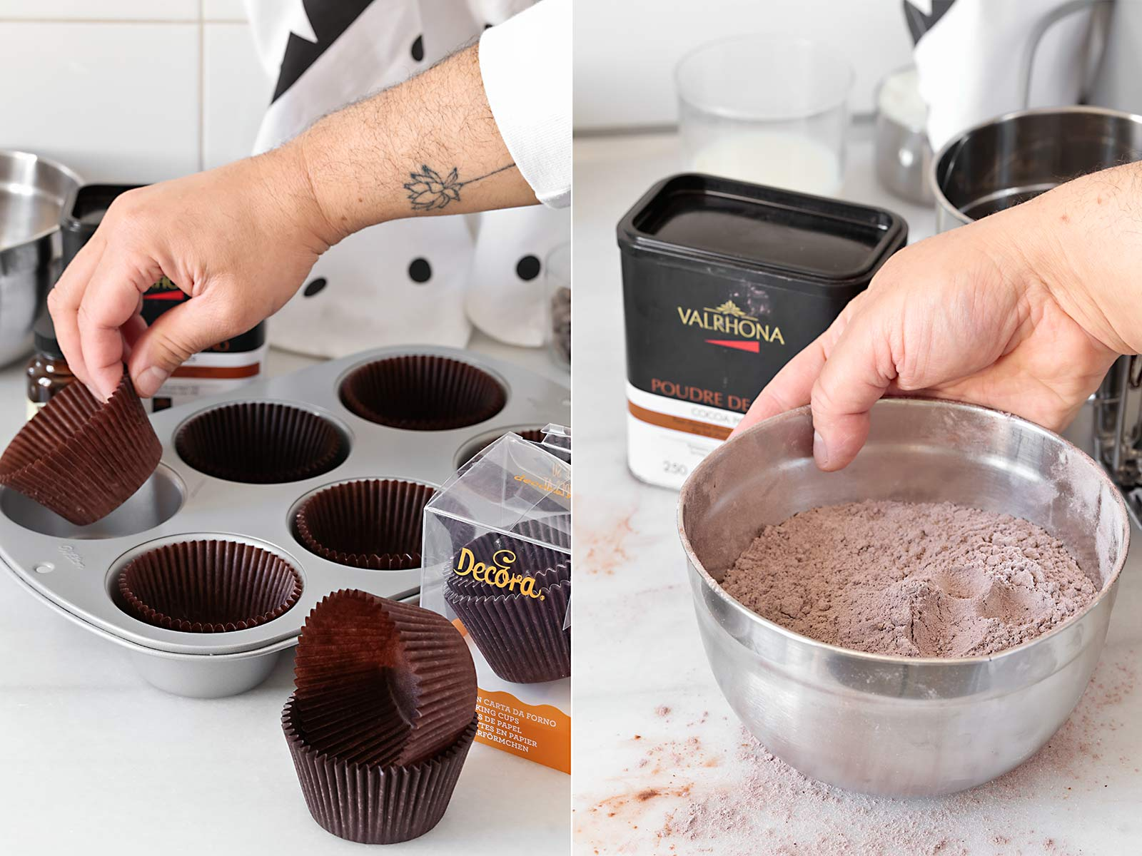 receta muffins Starbucks de chocolate