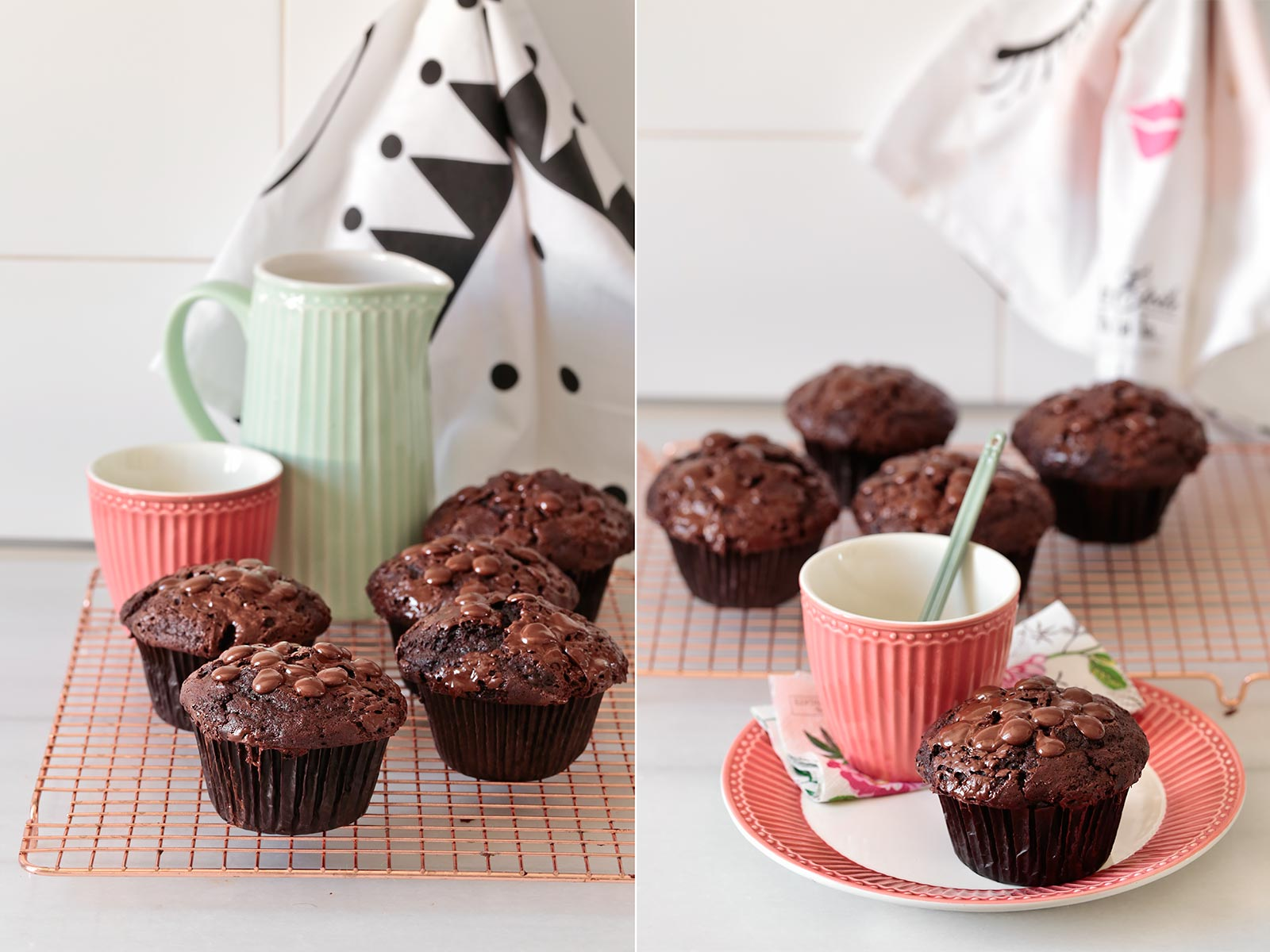 receta muffins Starbucks de chocolate