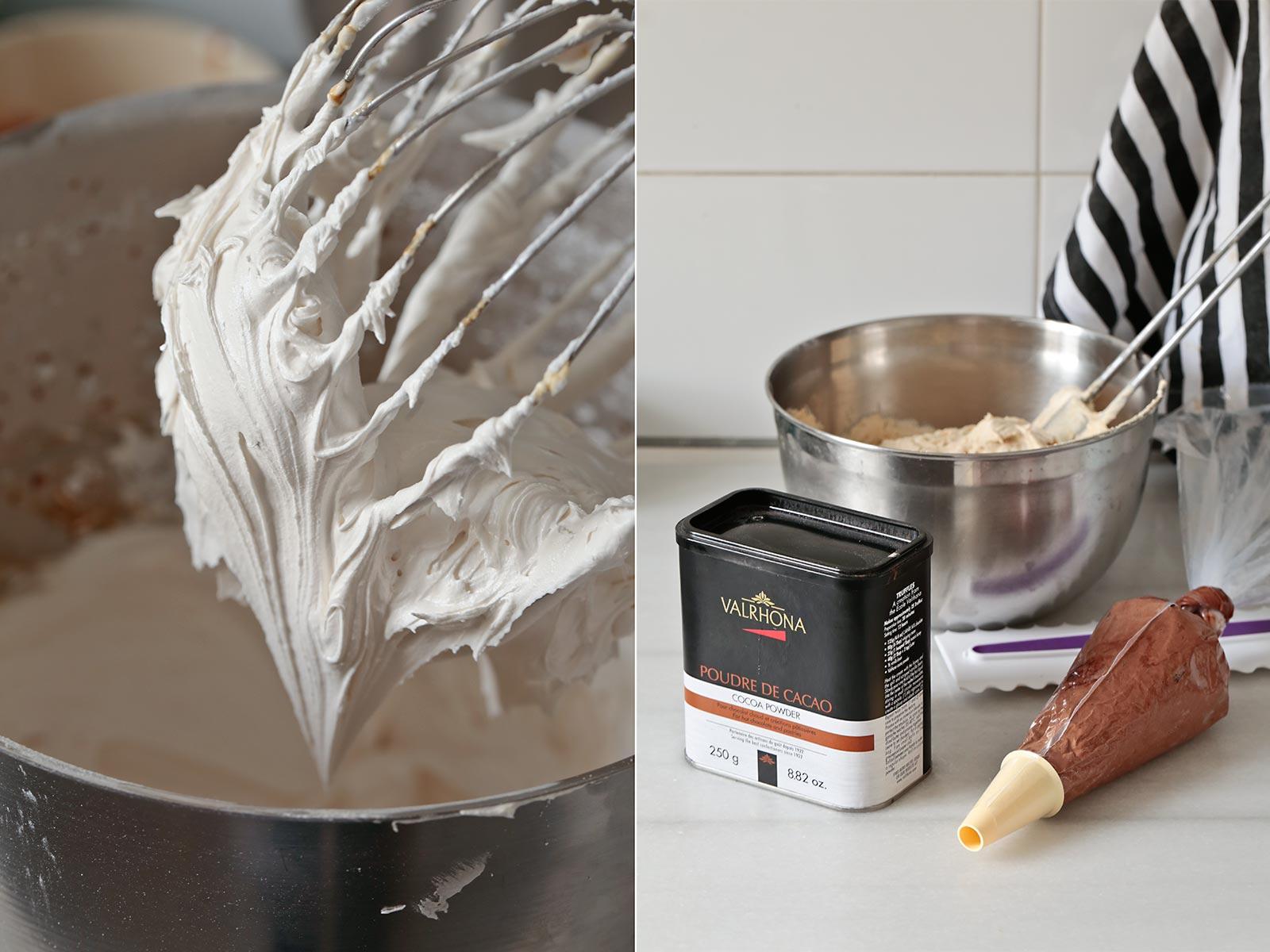 Receta striped layer cake de mantequilla de cacahuete