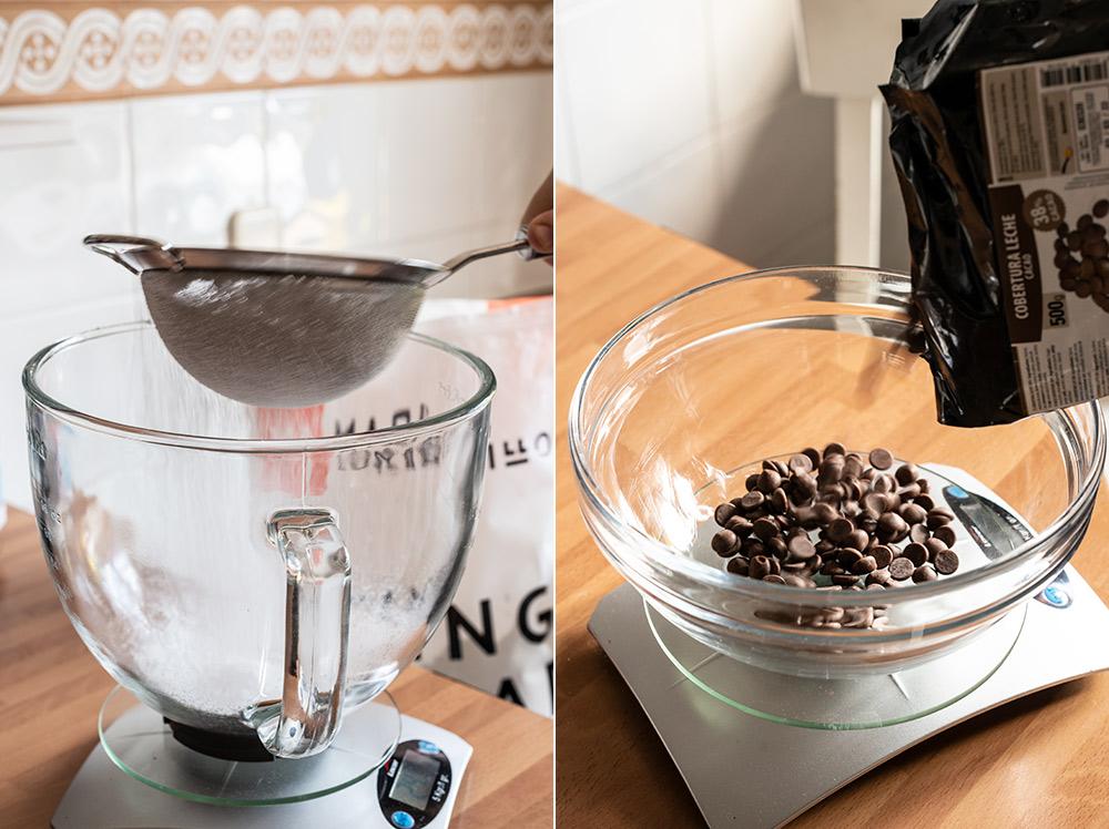 receta bizcocho chocolate un bol