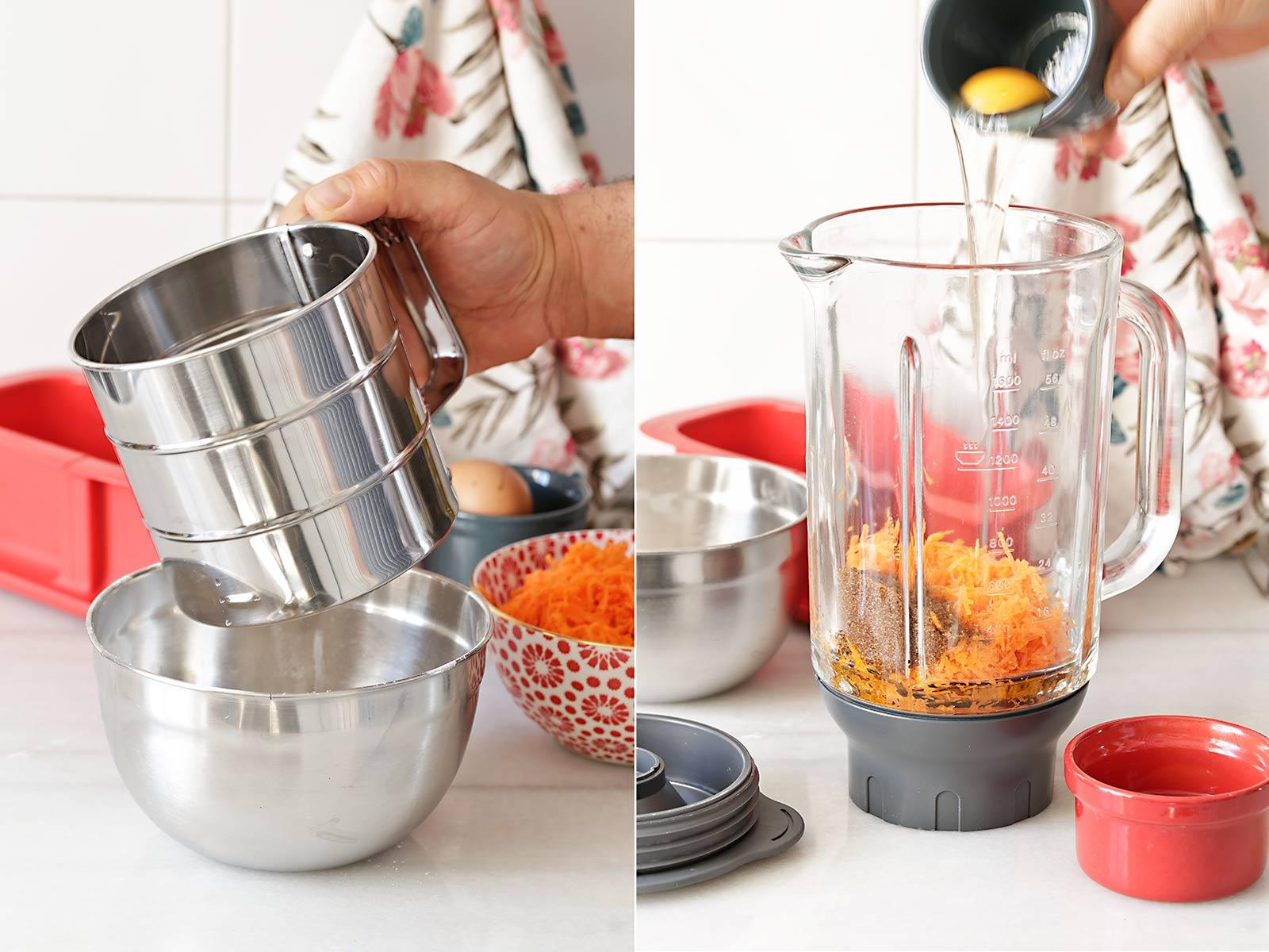Receta bizcocho de zanahoria en microondas