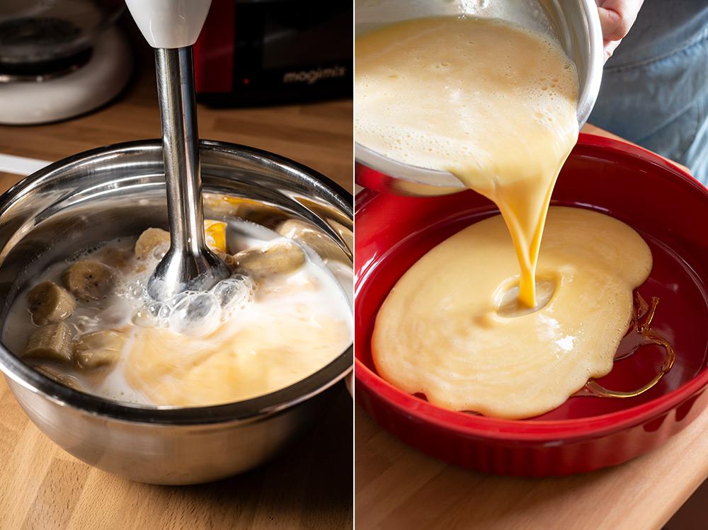 receta flan platano microondas