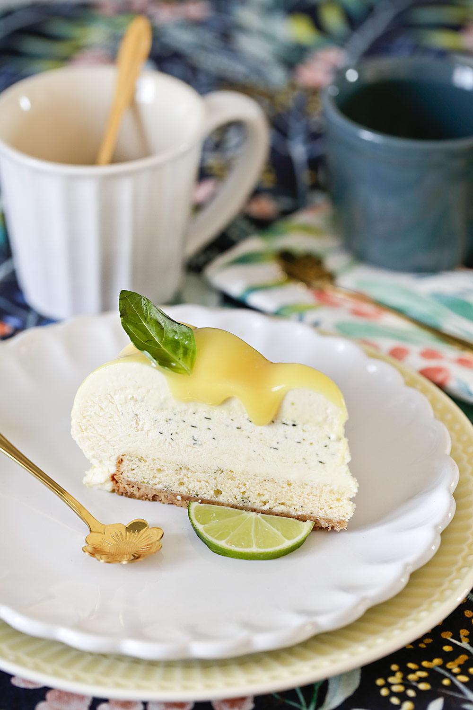 Receta tarta de lima y albahaca
