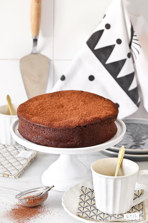 Receta tarta de chocolate sin harina