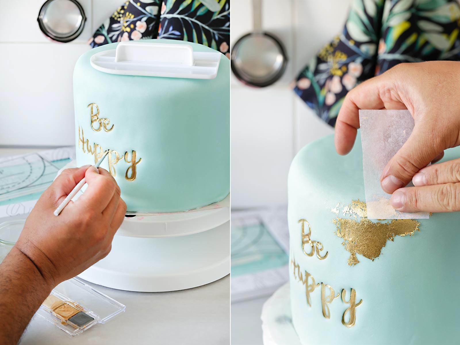 Receta tarta con sweet stamp