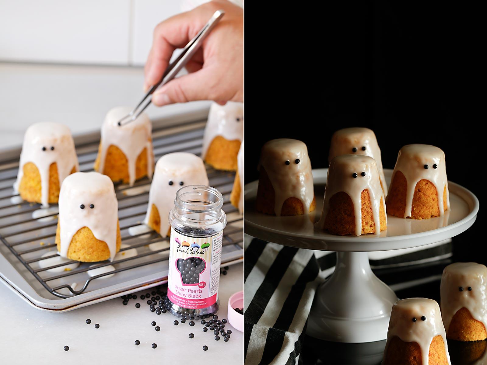Receta bizcochos fantasma para Halloween