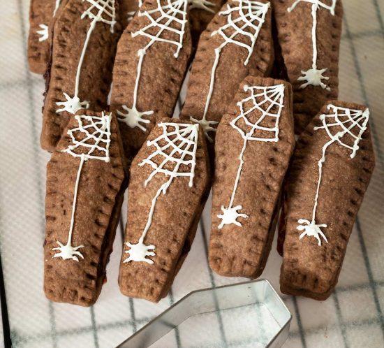 receta galletas ataud halloween
