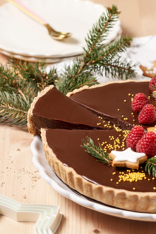 receta tarta chocolate jengibre navidad
