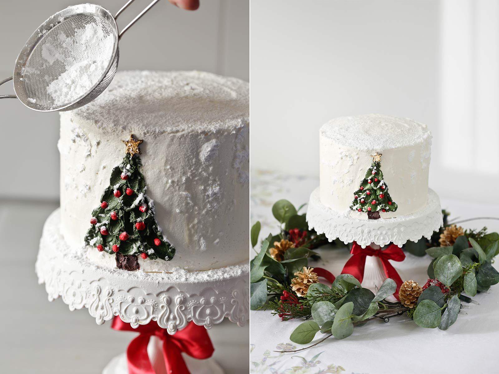 Tarta layer cake de Navidad