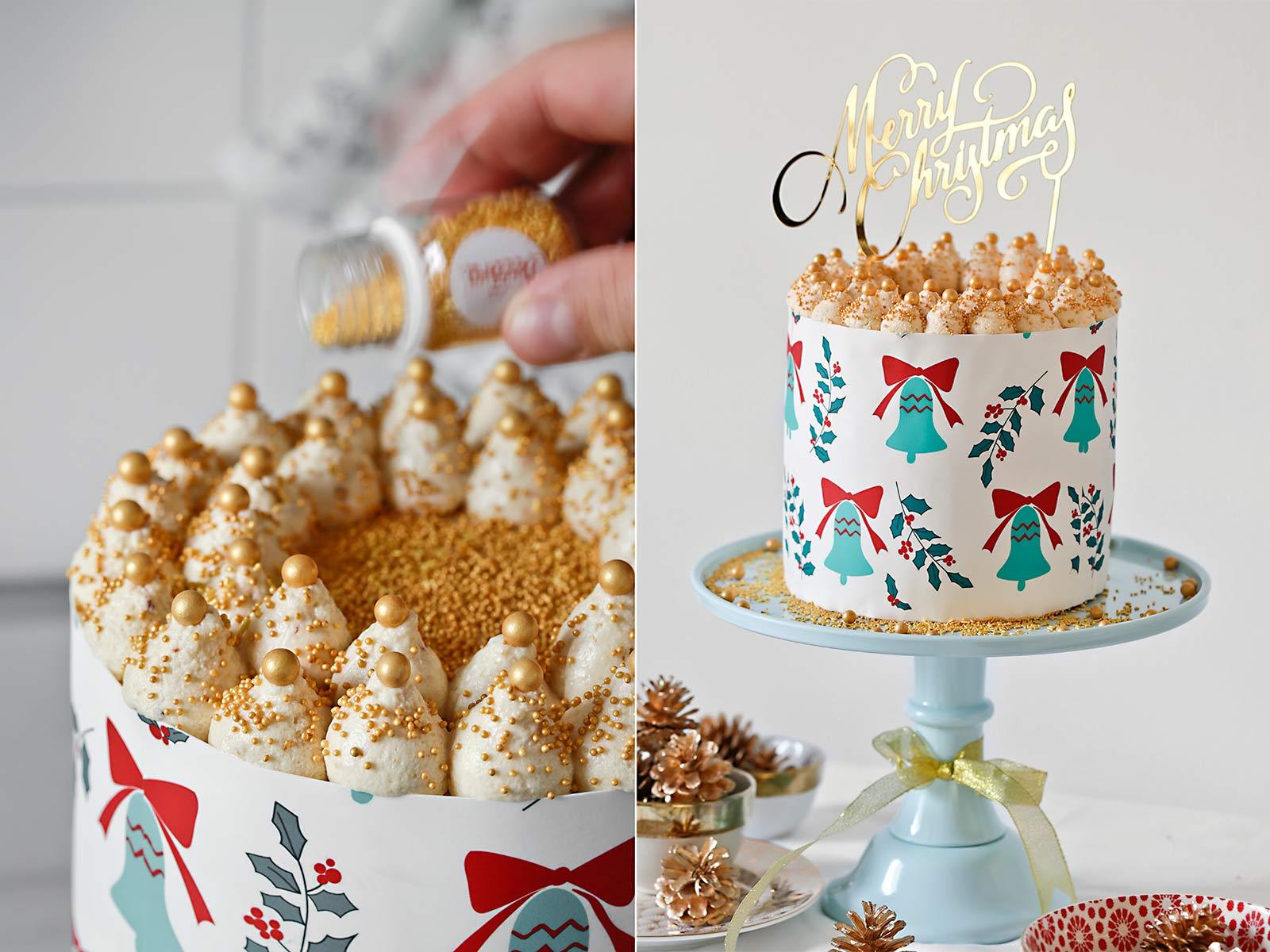 Receta tarta de Navidad con turrón de Jijona