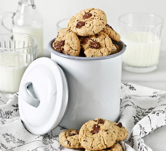 Receta galletas de avena y chocolate sin gluten