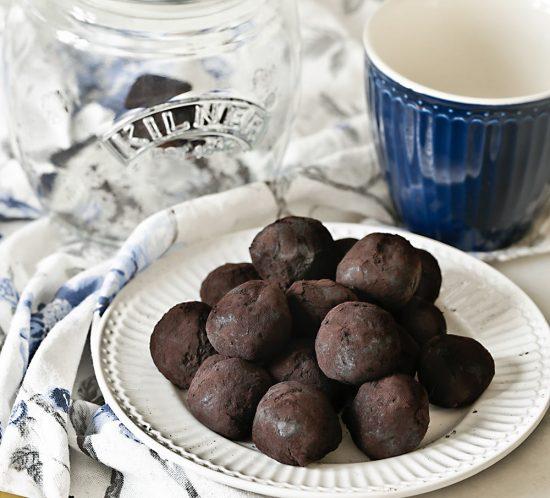 Receta trufas de chocolate saludables