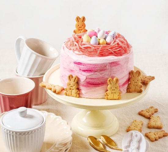 receta mona pascua rosa conejitos