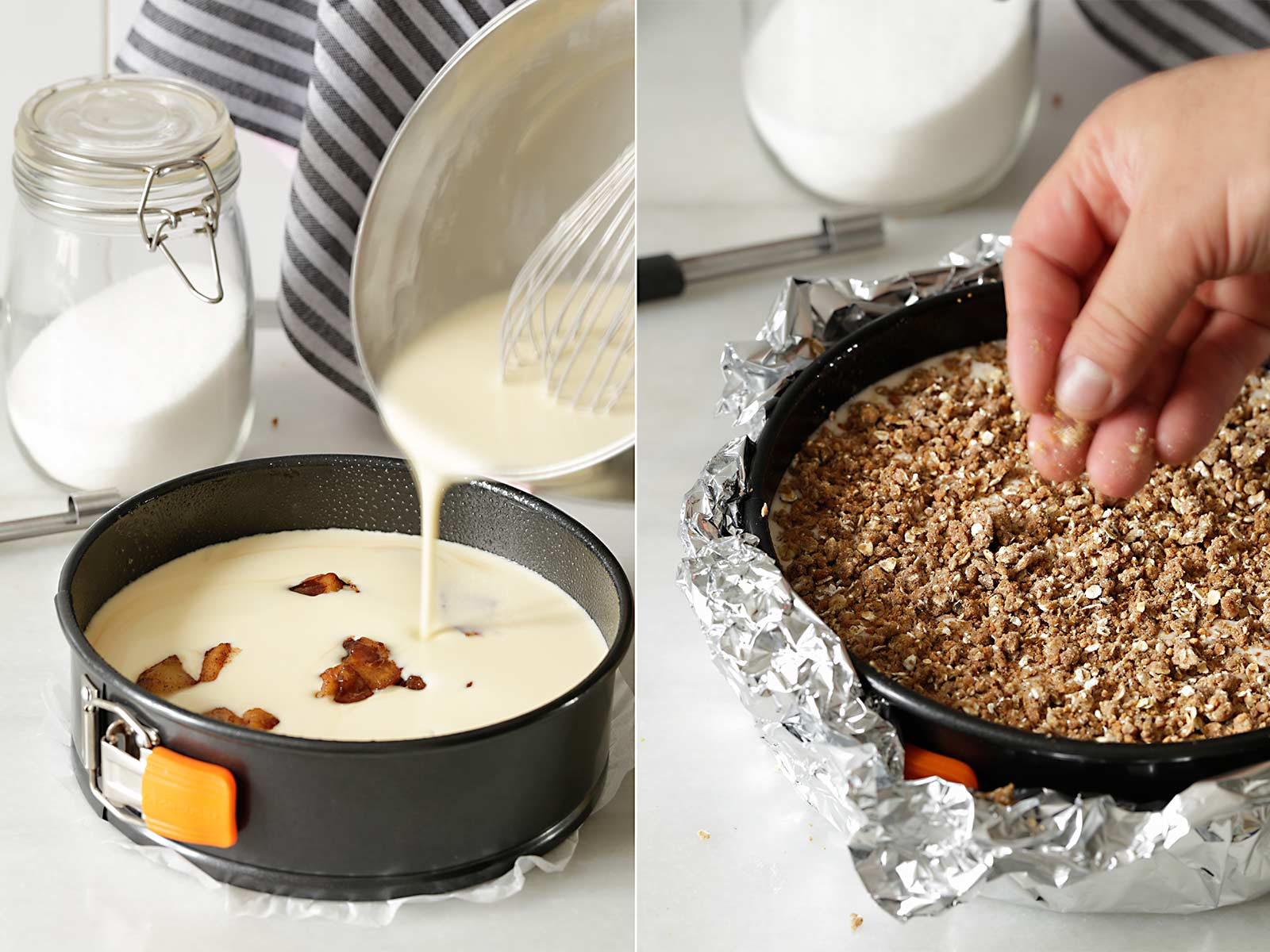 Receta cheesecake crujiente con manzana