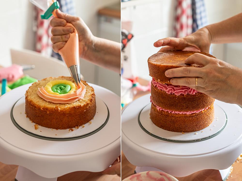 receta tarta fault line flores