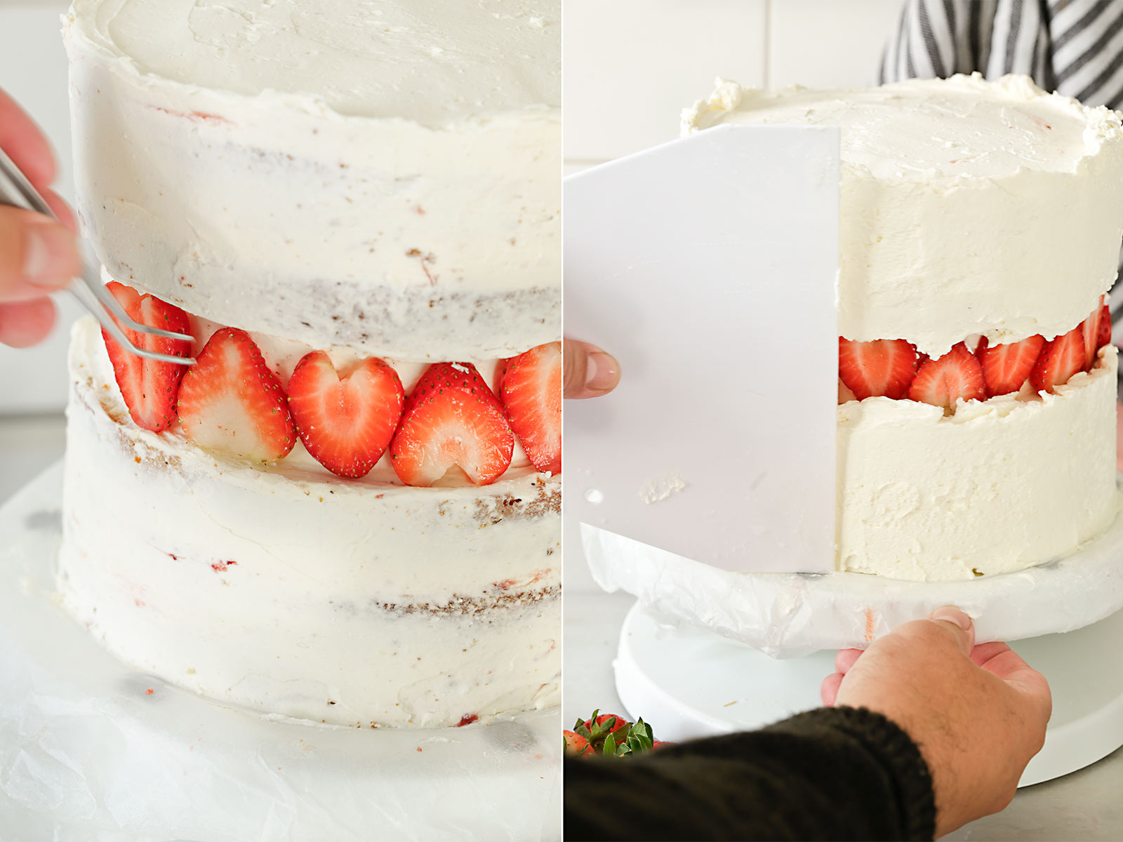 Receita de bolo com defeito de morango para mamãe